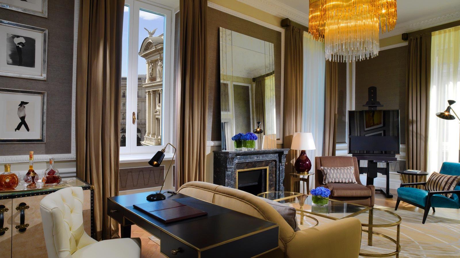 Guest rooms suites the st regis rome for Interior designer roma